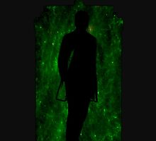 12th Doctor Silhouette Against TARDIS - green by shaneisadragon