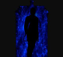 12th Doctor Silhouette Against TARDIS - true blue by shaneisadragon