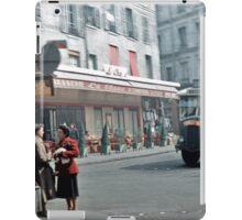 Vintage Paris Street Life 1956 Bus iPad Case/Skin