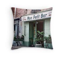 Vintage Paris 1956 Bar Throw Pillow
