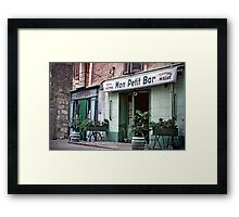 Vintage Paris 1956 Bar Framed Print