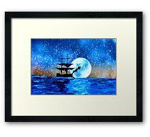 Moored at Sea Off Montego Bay Framed Print