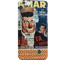 Vintage Paris Wall Poster Clown 1956 iPhone Case/Skin