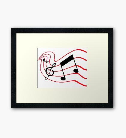 Music Notes Framed Print