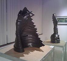 """Gauntlet II"".  Sculpture (Full size 26"" H x 51"" R ) by sonia neira-matthews"
