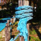 Blue Tattered Rope by Vickie Emms