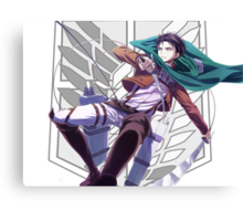 Attack on titan Levi anime manga shirt Canvas Print