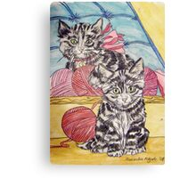 Tabby Kittens II Canvas Print