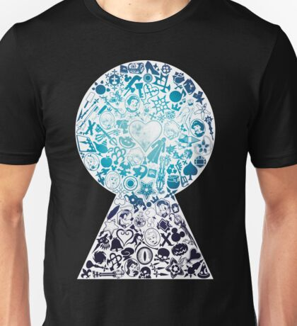 Kingdom Hearts - Keyhole (blue) Unisex T-Shirt