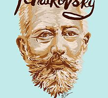 Tchaikovsky - classical music composer by fortissimotees