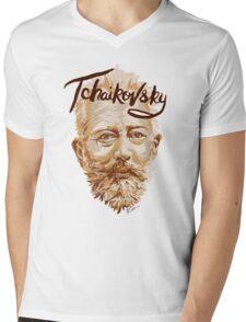 Tchaikovsky - classical music composer Mens V-Neck T-Shirt