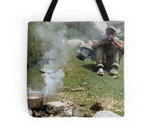 chai stop. ladakh, north western india Tote Bag