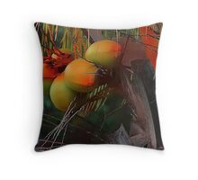 Coconut Palm Tree and Coconuts Throw Pillow
