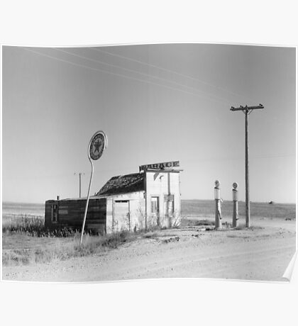 Abandoned Gas Station, 1937 Poster