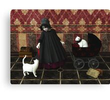 Playing: gothic way Canvas Print