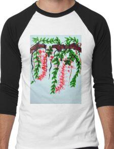 Wisteria on branch Men's Baseball ¾ T-Shirt