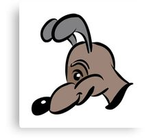 cartoon style dog in brown Canvas Print