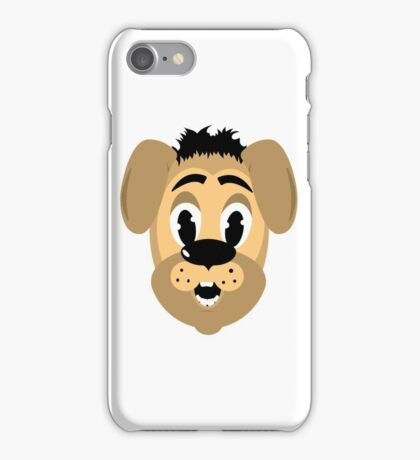 cartoon style dog head iPhone Case/Skin