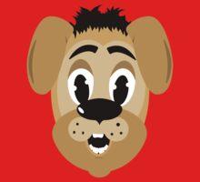 cartoon style dog head Kids Tee