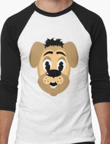 cartoon style dog head Men's Baseball ¾ T-Shirt
