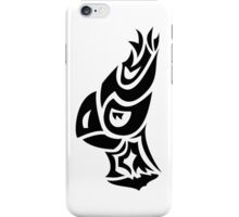 silhouette parrot head looking left iPhone Case/Skin