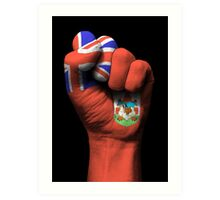 Flag of Bermuda on a Raised Clenched Fist  Art Print