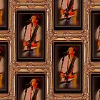 """Wills Displays Powerful Stage Presence"" ... with a matted and framed presentation for prints and products  by © Bob Hall"