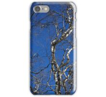 Deep Blue Sky and Birch Tree  iPhone Case/Skin