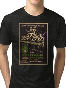 'Irish Canadian Ranger' Vintage Poster (Reproduction) Tri-blend T-Shirt