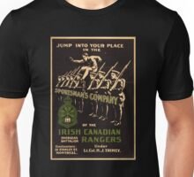 'Irish Canadian Ranger' Vintage Poster (Reproduction) Unisex T-Shirt
