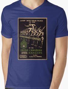 'Irish Canadian Ranger' Vintage Poster (Reproduction) Mens V-Neck T-Shirt
