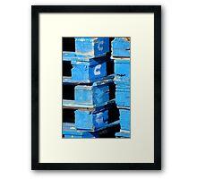 Blue Pallets Framed Print