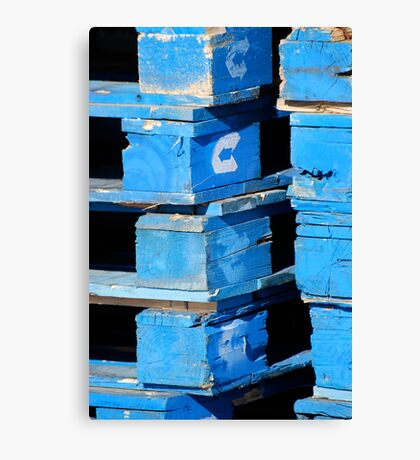 Blue Pallets Canvas Print