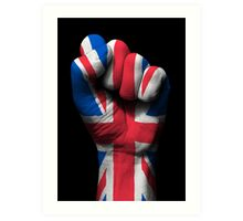 Union Jack on a Raised Clenched Fist  Art Print