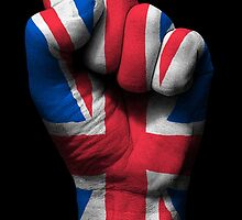 Union Jack on a Raised Clenched Fist  by Jeff Bartels