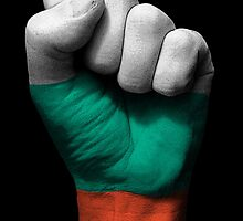 Flag of Bulgaria on a Raised Clenched Fist  by Jeff Bartels