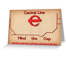 Central Line Greeting Card