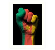 Flag of Cameroon on a Raised Clenched Fist  Art Print