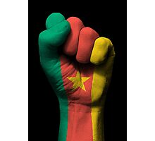 Flag of Cameroon on a Raised Clenched Fist  Photographic Print