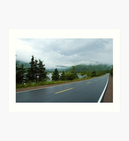 Nova Scotia Highway Art Print
