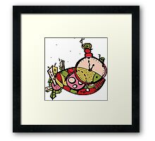 graphic time mysterious fish Framed Print