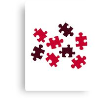 Jigsaw puzzle Canvas Print