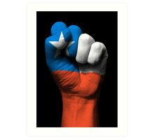 Flag of Chile on a Raised Clenched Fist  Art Print