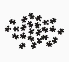 Black jigsaw puzzle One Piece - Long Sleeve