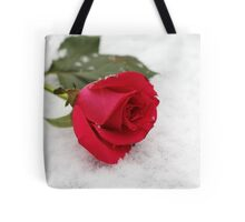 A rose on the snow Tote Bag