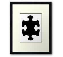 Black puzzle piece Framed Print