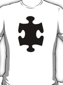 Black puzzle piece T-Shirt