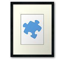 Jigsaw puzzle piece Framed Print