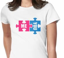 Jigsaw puzzle me and you Womens Fitted T-Shirt