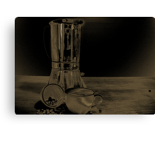 Coffee on the table Canvas Print